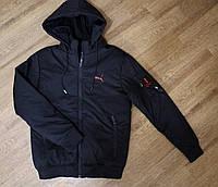 Курточка мужская осенняя на резинке черная