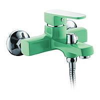 Смеситель для ванны с душем MIXXUS Missouri BUTTON green(CHR-009 EURO)