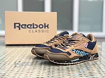 Кроссовки демисезонные мужские Reebok,коричневые, фото 2