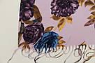 """Шарф кашеміровий турецький з квітами """"Аніта"""" (113-16), фото 3"""