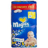 Подгузники Magics Premium Newborn 2 (3-6 кг) 68 шт Меджикс премиум