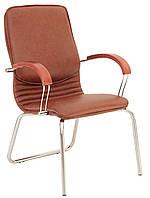 Кресло для конференц-зала NOVA wood CFA/LB chrome