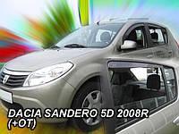 Дефлекторы окон (ветровики) HEKO (вставные) для Dacia Duster 2010+
