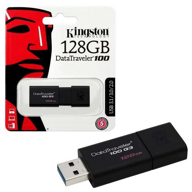Kingston DataTraveler 100 G3 128GB USB 3.0 Black (DT100G3/128GB)
