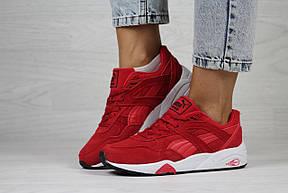 Женские кроссовки Puma Trinomic,замшевые,красные, фото 2