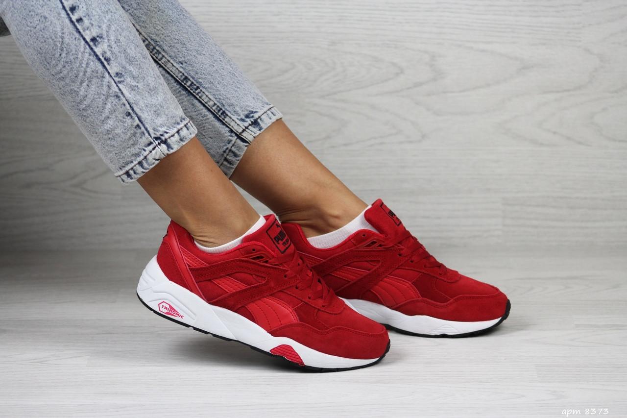 Женские кроссовки Puma Trinomic,замшевые,красные