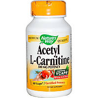 Ацетил-L-карнитин (Acetyl l-Carnitine) Nature's Way 500 мг 60 капсул