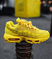 Женские кроссовки Nike Air Max 95 Yellow (Найк Аир Макс 95) желтые, фото 3