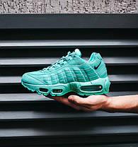 Женские кроссовки Nike Air Max 95 Mint (Найк Аир Макс 95) бирюзовые, фото 2