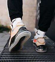 Мужские кроссовки NIke Air Max 720/90 x OFF White Beige Найк Аир Макс 720 90 ОФФ Вайт бежевые, фото 3