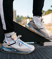 Мужские кроссовки NIke Air Max 720/90 x OFF White Grey Найк Аир Макс 720 90 ОФФ Вайт серые, фото 2