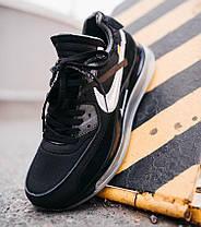 Мужские кроссовки NIke Air Max 720/90 x OFF White Black Найк Аир Макс 720 90 ОФФ Вайт черные, фото 3