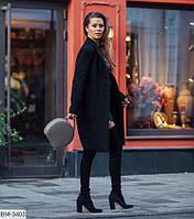 Пальто черного цвета на осень 46-48 р-р.