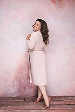 Женское элегантное платье на запах, фото 3