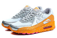 Кроссовки Nike Air Max 90 Splatter Pack  Mango White Metallic Silver, фото 1