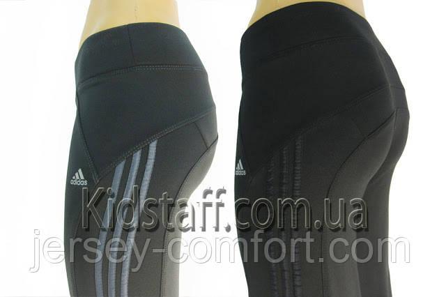 Спортивные брюки спортивные женские (эластан) темно-серые