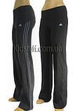 Спортивные брюки спортивные женские (эластан) темно-серые, фото 2
