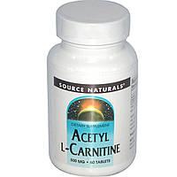 Ацетил-L-карнитин (Acetyl l-Carnitine) Source Naturals 500 мг 60 таблеток