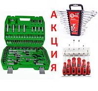 ✅ Набор инструментов головок Intertool 94 ед+12 ключей +6 отверток ( Интертул ET-6094SP, HT-1203,VT-2005)