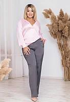 Красивый женский брючный костюм 53132 (50–60р) в расцветках