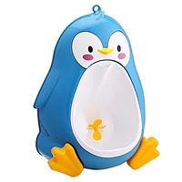 Писсуар детский Пингвин портативный туалет для мальчиков Голубой (FON006)