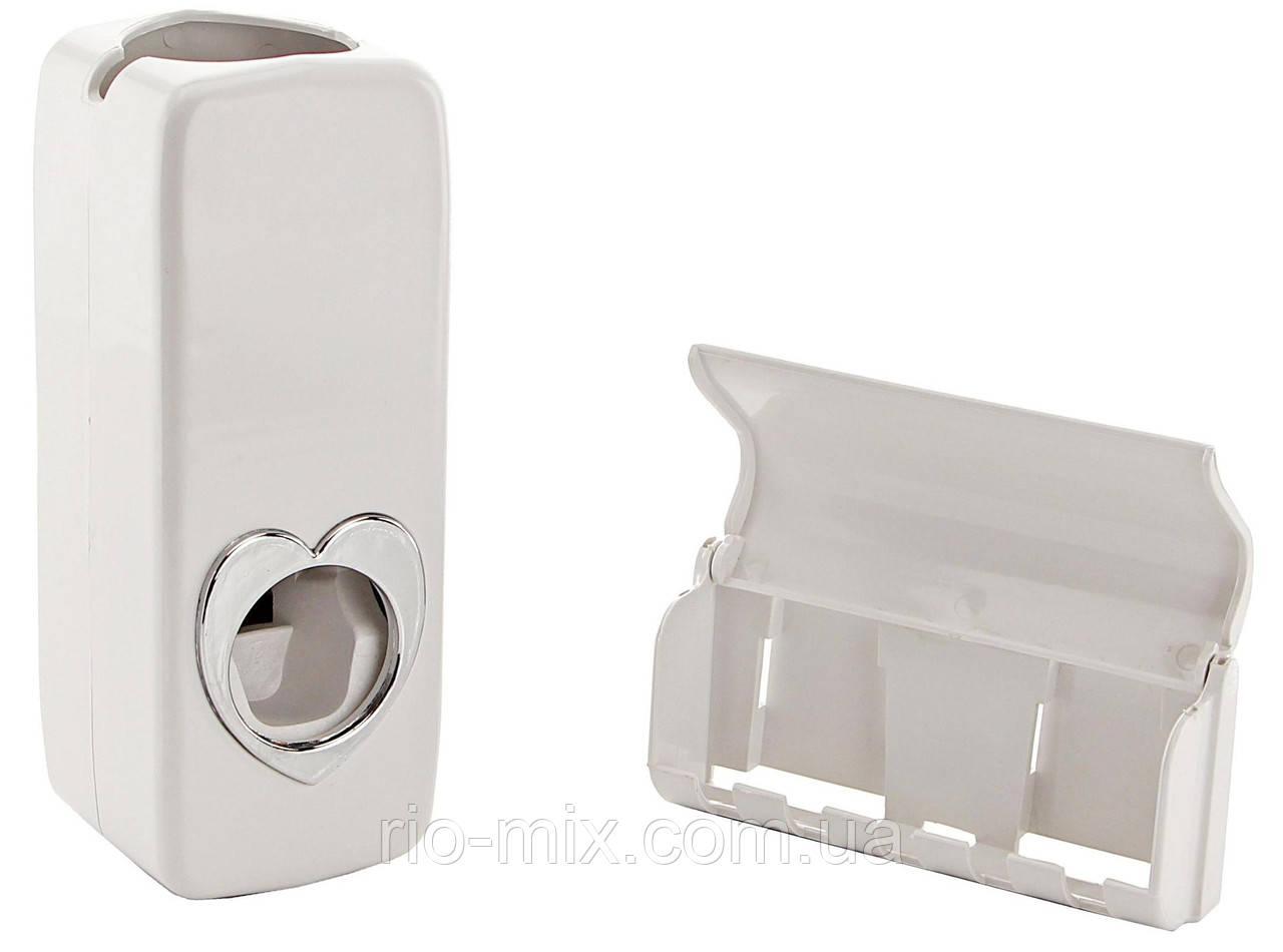 Дозатор зубной пасты с держателем для щеток, фото 1