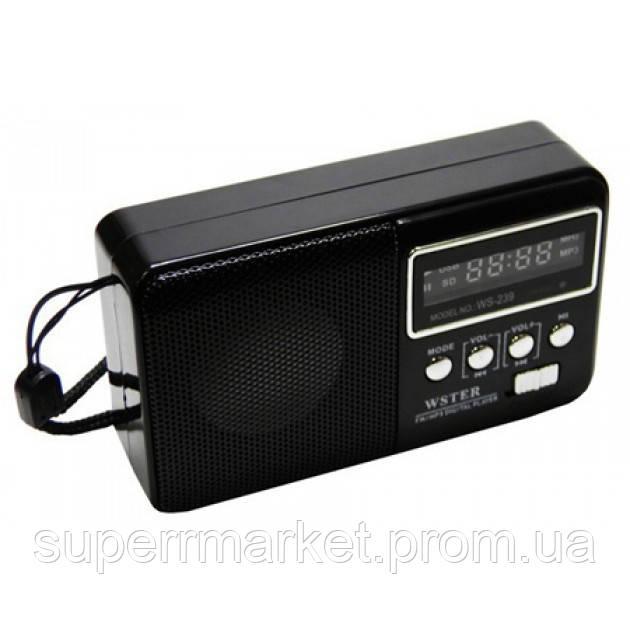 Портативная колонка-радио WS-239 MP3 SD USB AUX FM new