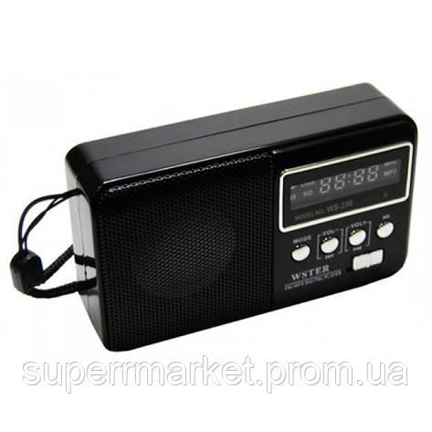 Портативная колонка-радио WS-239 MP3 SD USB AUX FM new, фото 2