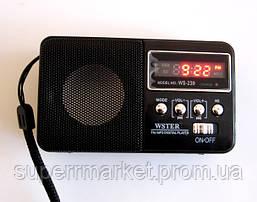 Портативная колонка-радио WS-239 MP3 SD USB AUX FM new, фото 3