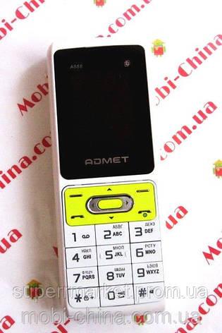 ADMET A888 3 sim, white - до 30 дней без подзарядки!, фото 2