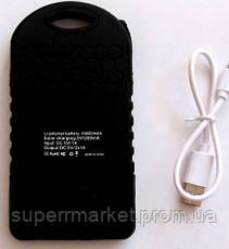 Power bank solar 10000mAh black + зарядка от солнечной батареи  черная, фото 3