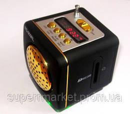 WS-909RL Портативная колонка, динамик с радио MP3 SD USB AUX FM LED, фото 3