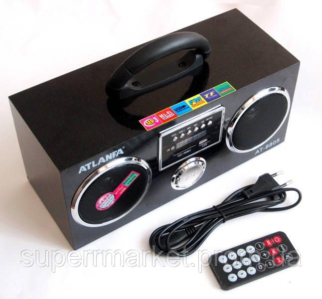 Акустическая колонка  Atlanfa AT-8805, MP3 SD USB FM , black