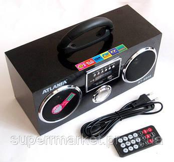 Акустическая колонка  Atlanfa AT-8805, MP3 SD USB FM , black, фото 2