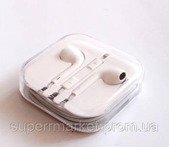Наушники Apple Iphone копия, + микрофон + регулятор громкости, фото 2