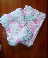 Одеяло плед и подушка для новорожденных