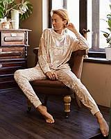 Женский повседневный велюровый костюм для дома и отдыха Feyza.