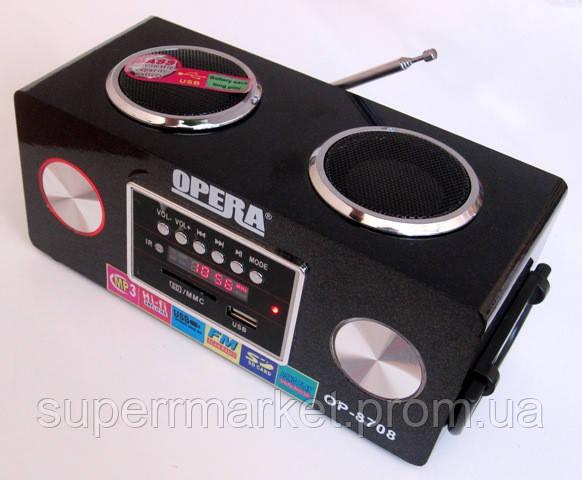 Акустическая колонка Opera OP-8708 6W, 220v MP3 SD USB FM