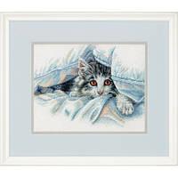 Набор для вышивания Dimensions 70-35341 Cat Comfort Cross Stitch Kit