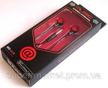 Вакуумные наушники Stereo  MD-A10 черные, фото 2