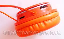 Наушники ATLANFA AT-7611 гарнитура с MP3 FM Bluetooth, оранжевые, фото 3