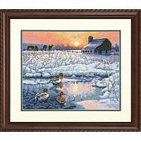 Набор для вышивания Dimensions 70-35304 Winter Morning Cross Stitch Kit