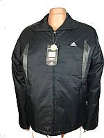 Мужская ветровка на тонком синтепоне  adidas р-р 46-52,черная.Предоплата
