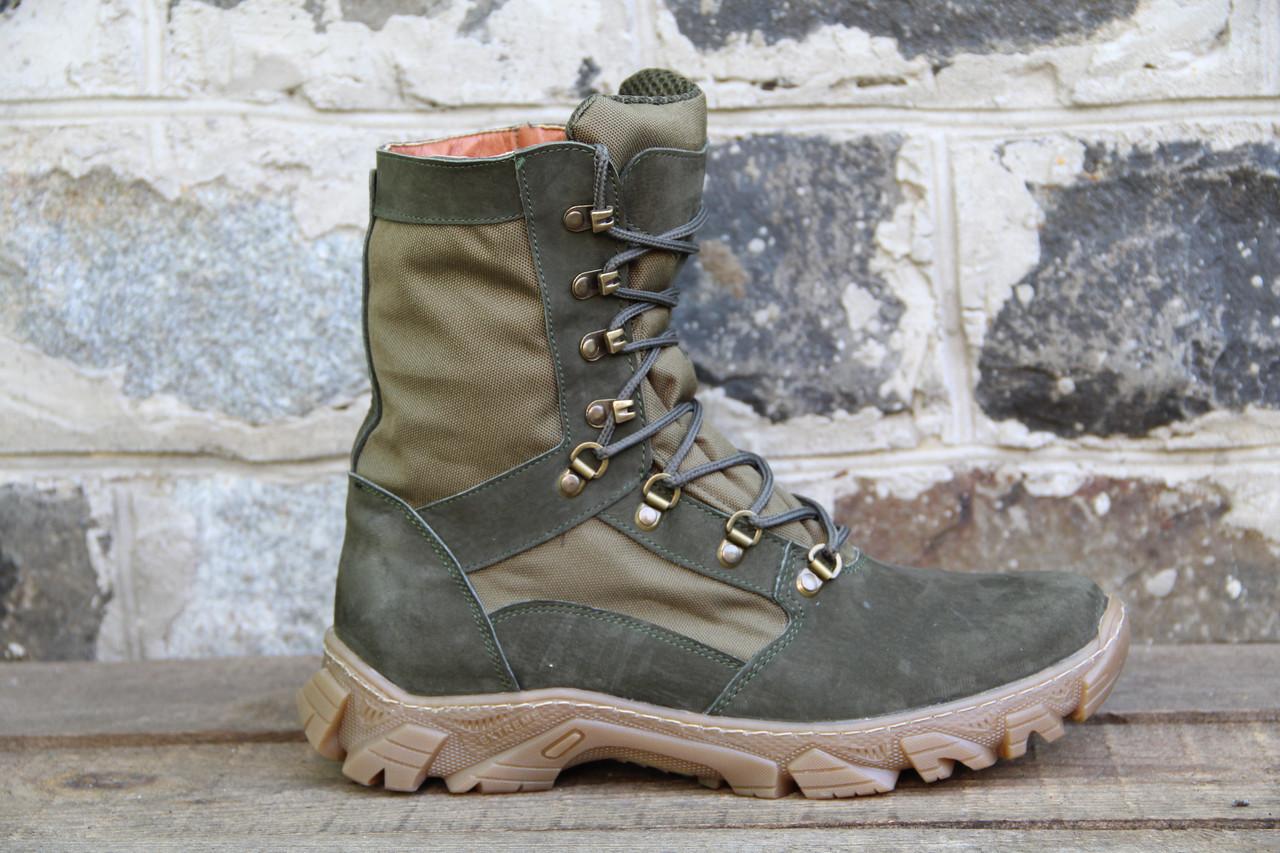 Берцы из натуральной кожи тактические ботинки из натуральной зеленой кожи RZ 5154-11-2