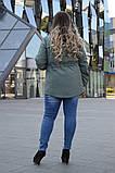 Демисезонная куртка в большом размере 50 52 54 56 58 60 62 64, фото 2