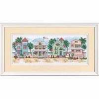Набор для вышивания Dimensions 13726 Seaside Cottages Cross Stitch Kit, фото 1