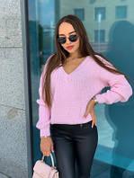 """Модный свитер женский с большим вырезом """"Крис"""" - размер универсальный 44-52, в расцветках"""
