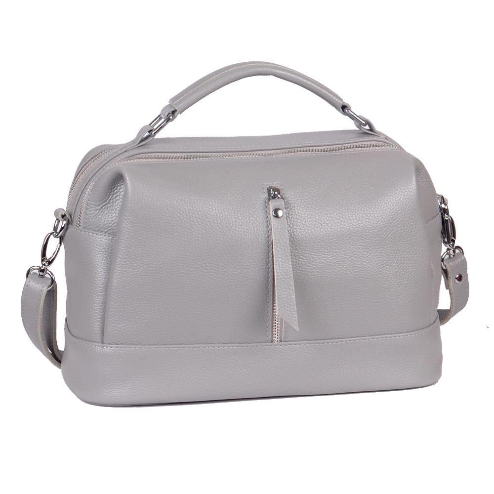 Женская кожаная сумочка 44 серый флотар 01440114