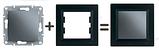 Розетка TV-SAT проходная 4 dB антрацит Asfora Plus  EPH3400271, фото 2
