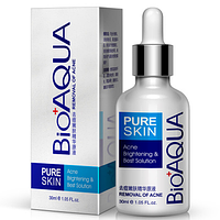 Сыворотка против акне и воспалений Pure Skin BioAqua Anti-Acne. 30 мл (СРЕДСТВО ОТ ПРЫЩЕЙ)